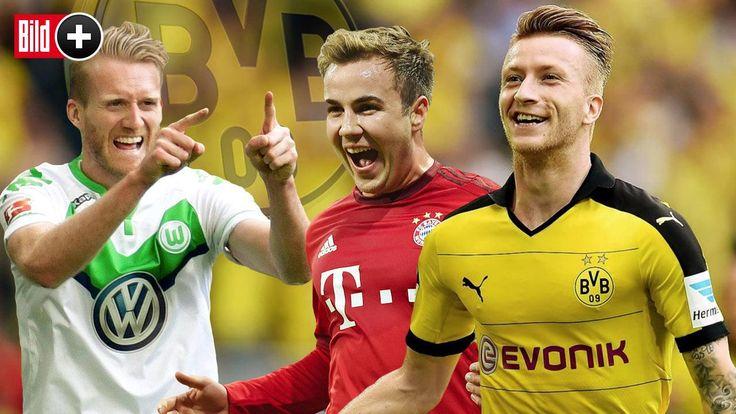 André Schürrle (25) und Mario Götze (24) stehen vor einem Wechsel nach Dortmund. Es geht nach BILD-Informationen nur noch um die Ablösesummen. In jedem Fall geht der BVB mit einer millionenschwer erneuerten Mannschaft in die Saison. BILD bewertet die festen und potentiellen Neuverpflichtungen und zeigt; wie die Startelf des Bayern-Jägers aussehen könnte.