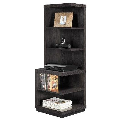 Fremont Audio Stand/Bookcase - Espresso - , Espresso Brown, Ameriwood Home