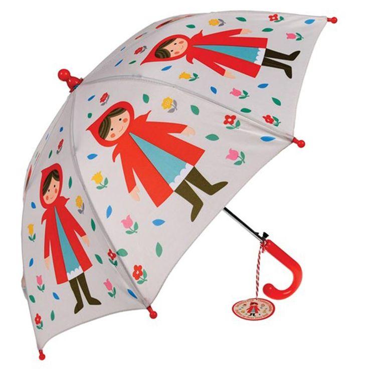 Kinder-Regenschirm Rotkäppchen von Rex International #regenschirm #regenbogen #kinder #spaß #sonnenschirm #kinderschirm #gutelaune #bunt