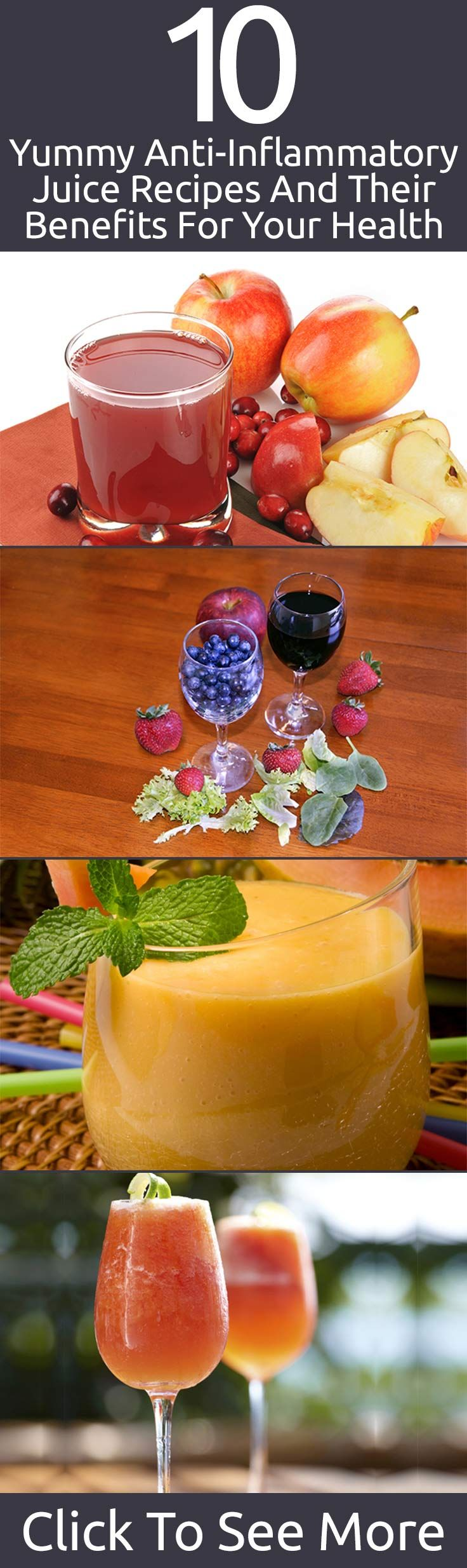 10 Yummy Anti-Inflammatory Juice Recipes And Their Benefits For Your Health #juice #recipes #yummy