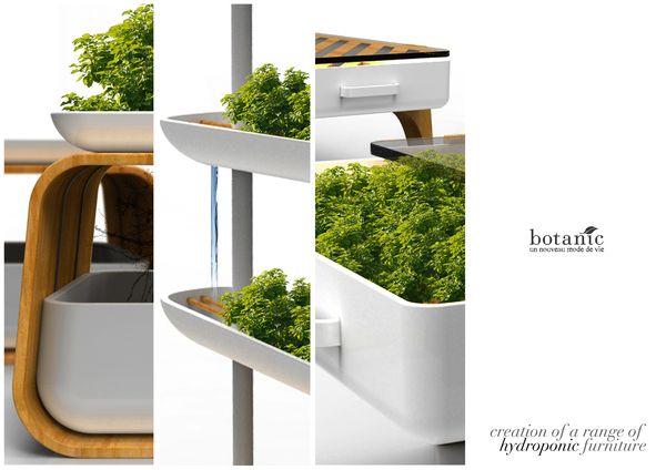 Botanic Hydroponic Furniture on Industrial Design Served