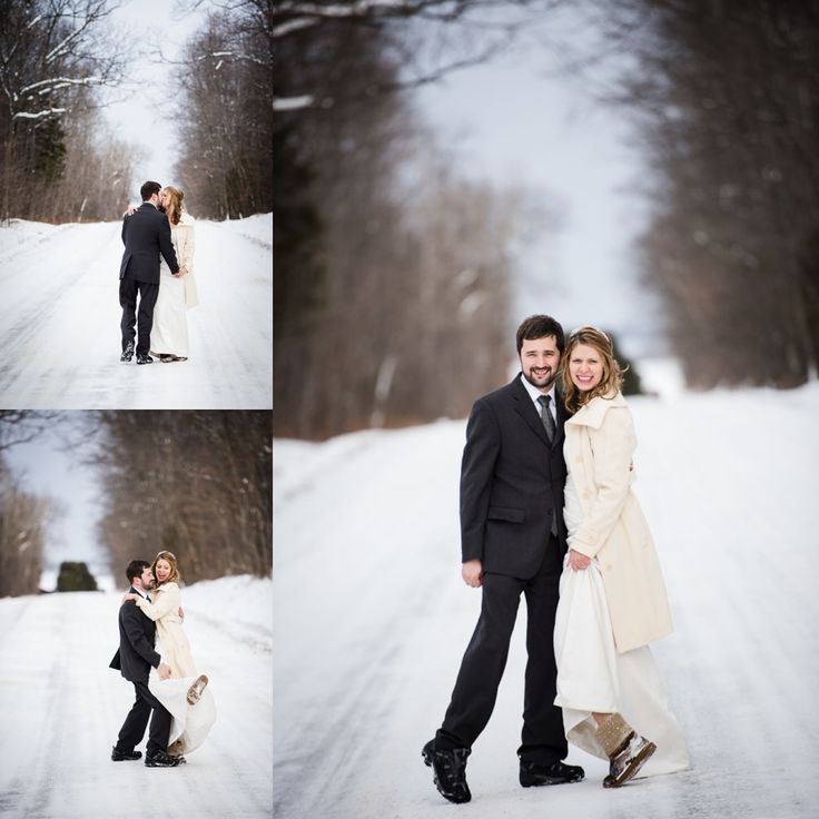 #VisualRoots #WinterWedding #Bride #Groom #Muskoka