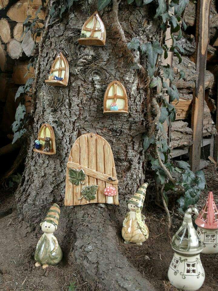 Tündérfa / Fairy tree  www.mesekeramia.hu  #mesekerámia #kertidísz #tündérfa #manófa #fairygarden
