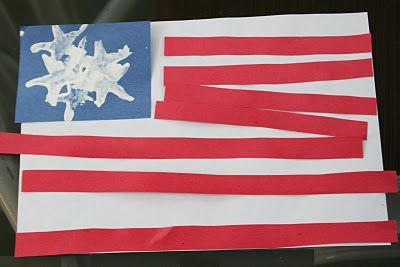 Fourth of July Preschool Crafts or President's Day