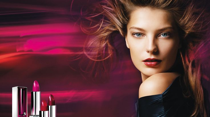 Daria Werbowy shot by Mario Sorrenti for Lancôme Color Fever 2006 | Still Life Dieleman | Creative Direction Bernard Guillon | Hair Stylist Bob Recine | Make-up artist Linda Cantello |  A&M Creative.