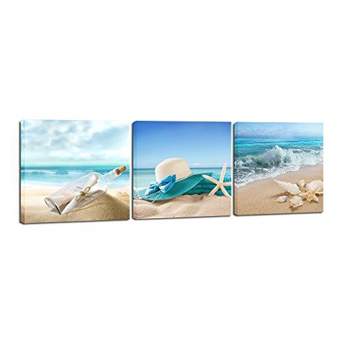 5 Pieces Multi Panel Modern Home Decor Beach Wave Wall Canvas Art