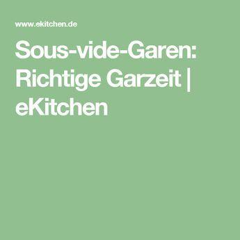 Sous-vide-Garen: Richtige Garzeit | eKitchen