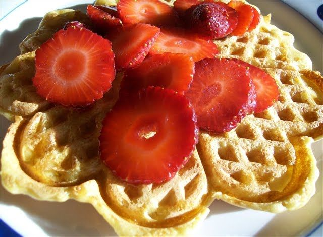 Shares 0 Brown rice waffles with pure maple syrup and strawberries This is the best waffle and pancake recipe ever – so light, and the waffles are nice and crispy – and they're healthy too! They are dairy free, and gluten free if you use brown rice and/or buckwheat. They can also be made nut …