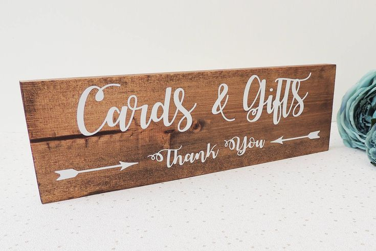 Wedding table sign, rustic wedding decor, gift and card sign, wedding guest sign, wooden wedding plaque, present table sign, thank you board by luxurygrove on Etsy