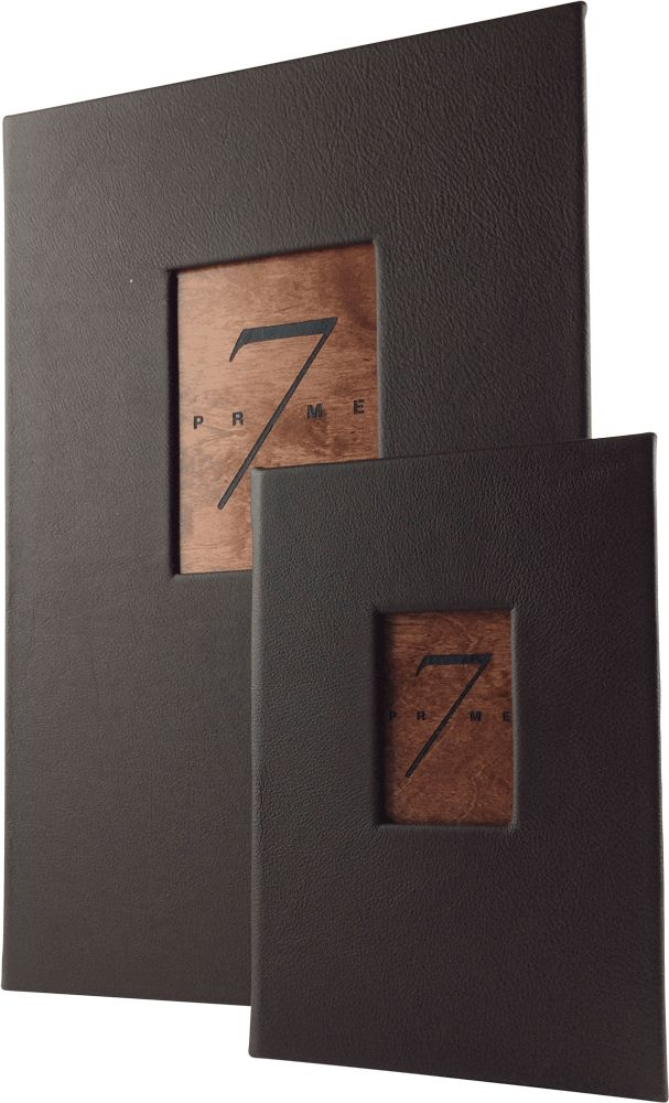 Matching food and drink menu covers by Menu Designs. Create an attractive arrangement of your menu items with menu covers from Menu Designs. We have a large selection of menu covers made from the finest materials. Whether you're a café interested in menu boards or a five star dining establishment who's looking for leather menu covers, we're sure you'll find the perfect menu covers for your restaurant.