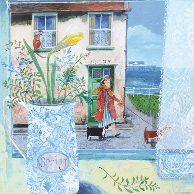 'Here Comes The Sun!' By Painter Stephanie Lambourne. Blank Art Cards By Green Pebble. www.greenpebble.co.uk