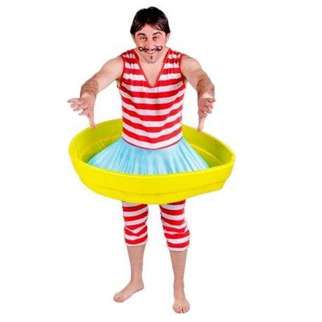 Disfraces despedida de soltero   Disfraz de bañista antiguo. Elegante modelo para chico. Compuesto de body de rayas y falda con barcaza.  39,95€  #disfraz #despedida #soltero #disfraces #bañista #antiguo #epoca #bañador #barca #barcaza  #body #rayas