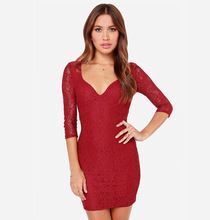 New 2015 Hollow Out Tight Backless Lace Sexy Dresses for Women Clothes Slim Fit Vestidos t50(China (Mainland))