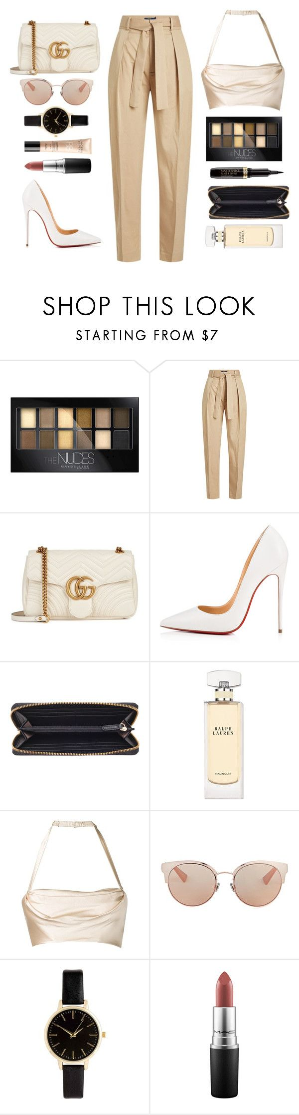 @capri by melanie-pacheco on Polyvore featuring moda, Dolci Follie, Polo Ralph Lauren, Christian Louboutin, Gucci, Vince Camuto, Christian Dior, Guerlain, MAC Cosmetics and Maybelline