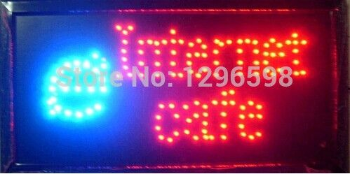 >> Click to Buy << 2017 hot sale 10x19 Inch Semi-outdoor INTERNET CAFE store Ultra Bright flashing led electric signs #Affiliate