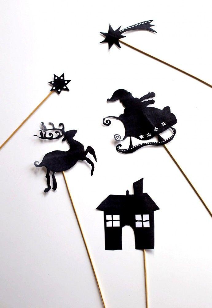 Mon petit théâtre des ombres de Noël (Free printable) | Eloely