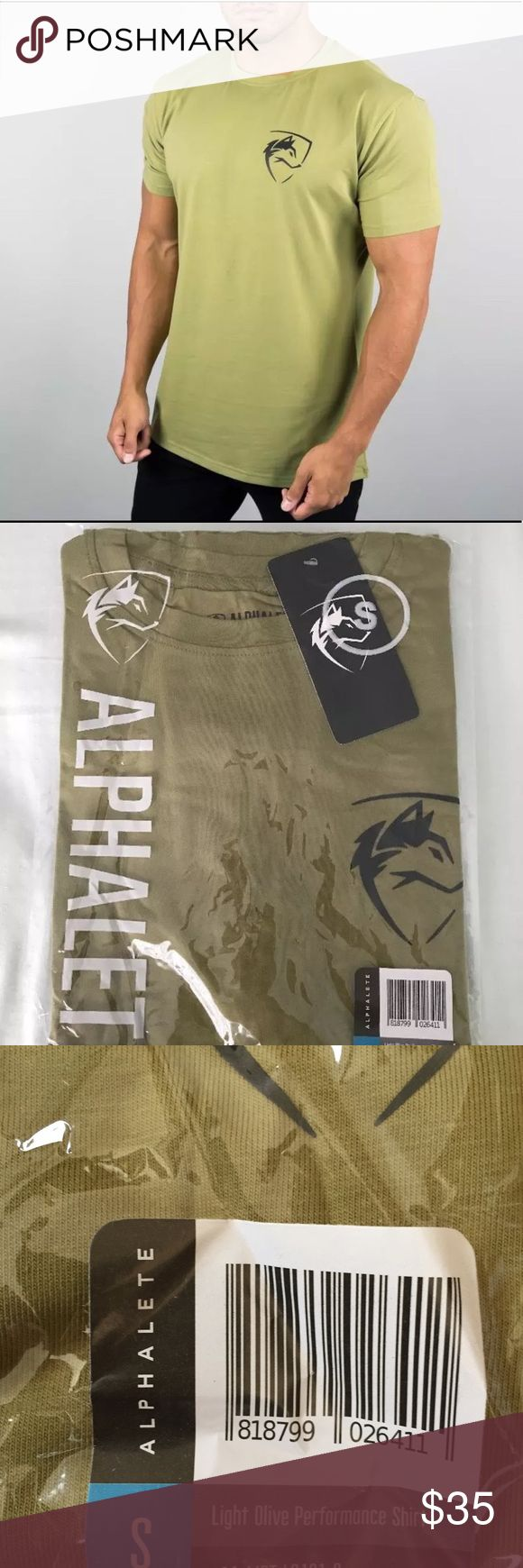 Alphalete T-shirt New, size small, color: olive Price is firm! Tags: Alphalete, Gymshark Alphalete Shirts Tees - Short Sleeve