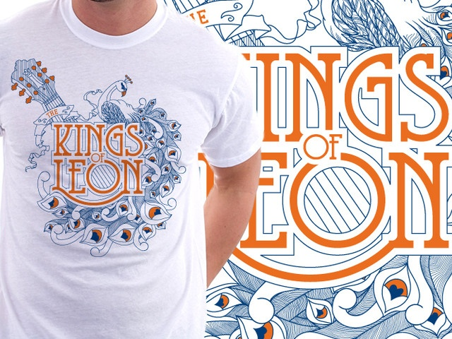 Kings of Leon tee design