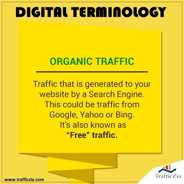 #DigitalTerminology what is Organic Traffic? @trafficzia