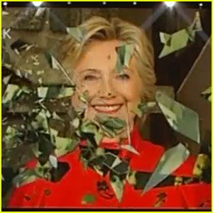 2016-07-26: Hillary breaks the glass ceiling, at the close of the Second Day of the Democratic Convention.