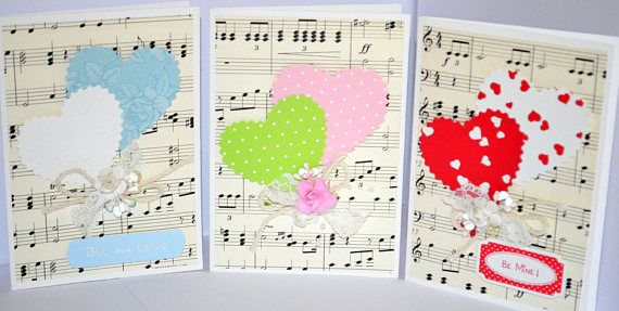 Shabby Chic Cards Romantic Cards Love Cards Valentines Day