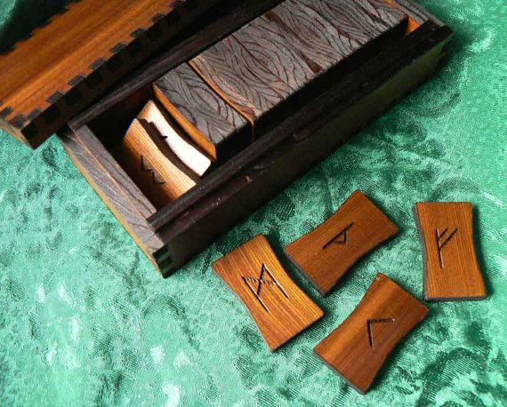 Plain and Simple Elder Futhark Boxed Rune Set by AlaskaLaserMaid