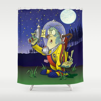 Peace Off! (wordless) Shower Curtain by Nameless Shame - $68.00