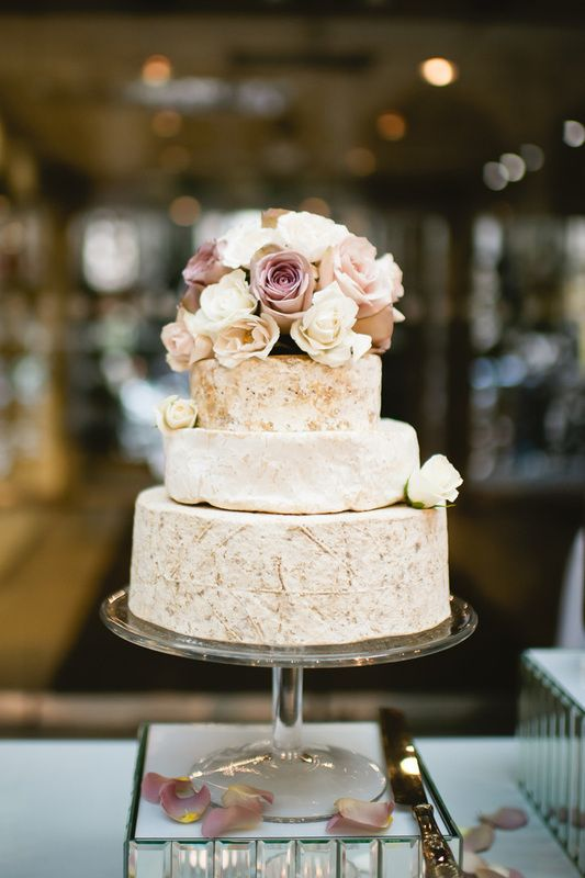 Cheese wedding cake! Too cool {Photo by Ann-Kathrin Koch Photography via Project Wedding}