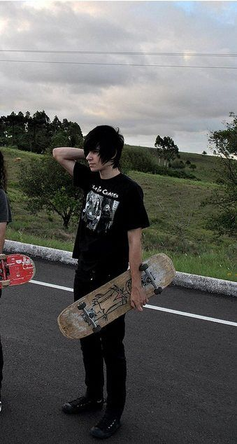 Jacob and a couple of friends skateboarding