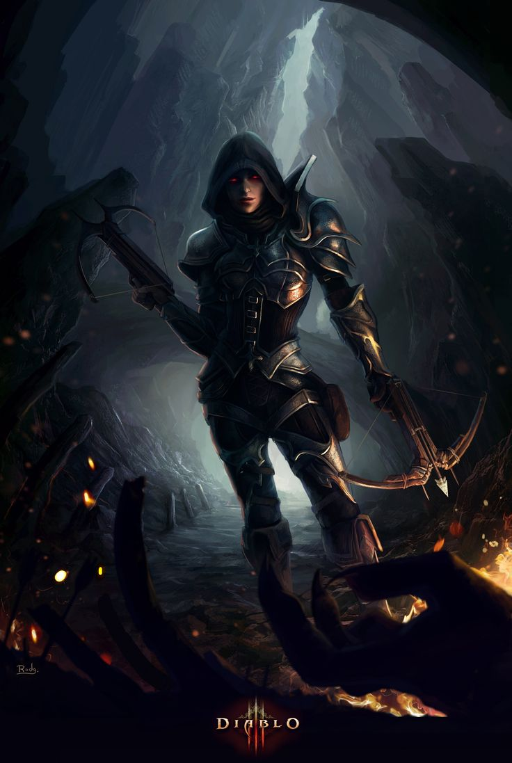 16 best images about diablo 3 on pinterest videogames for Demon hunter