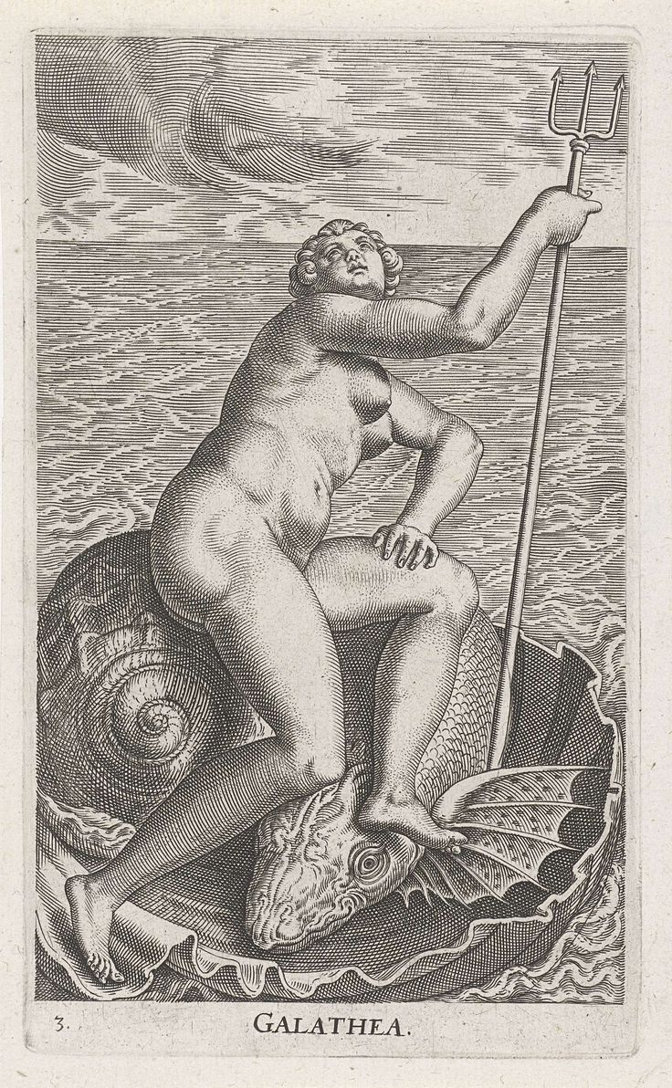 Waternimf Galatea, Philips Galle, 1587