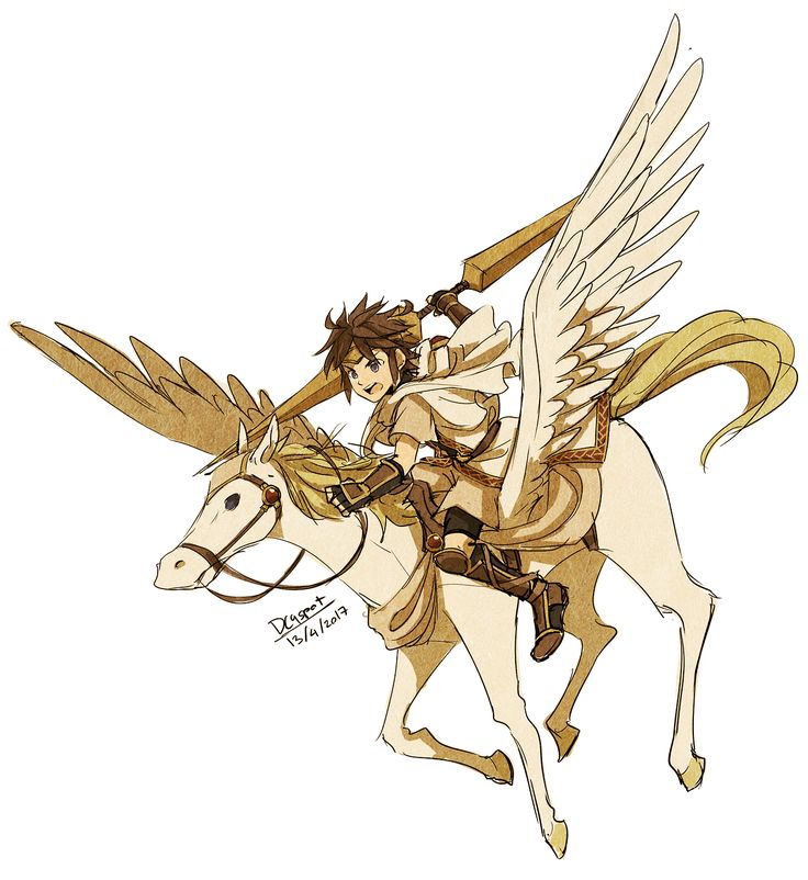 Kid Icarus Emblem! Pit as a Pegasus knight with a javelin, I could've give him a bow, but I think the fact that javelin can do both direct and indirect attack fit him pretty well. (I could make him...