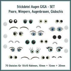 Augen und Wimpern Giga Set Stickdatei http://www.rock-queen.de/epages/78332820.sf/de_DE/?ObjectPath=/Shops/78332820/Products/2034