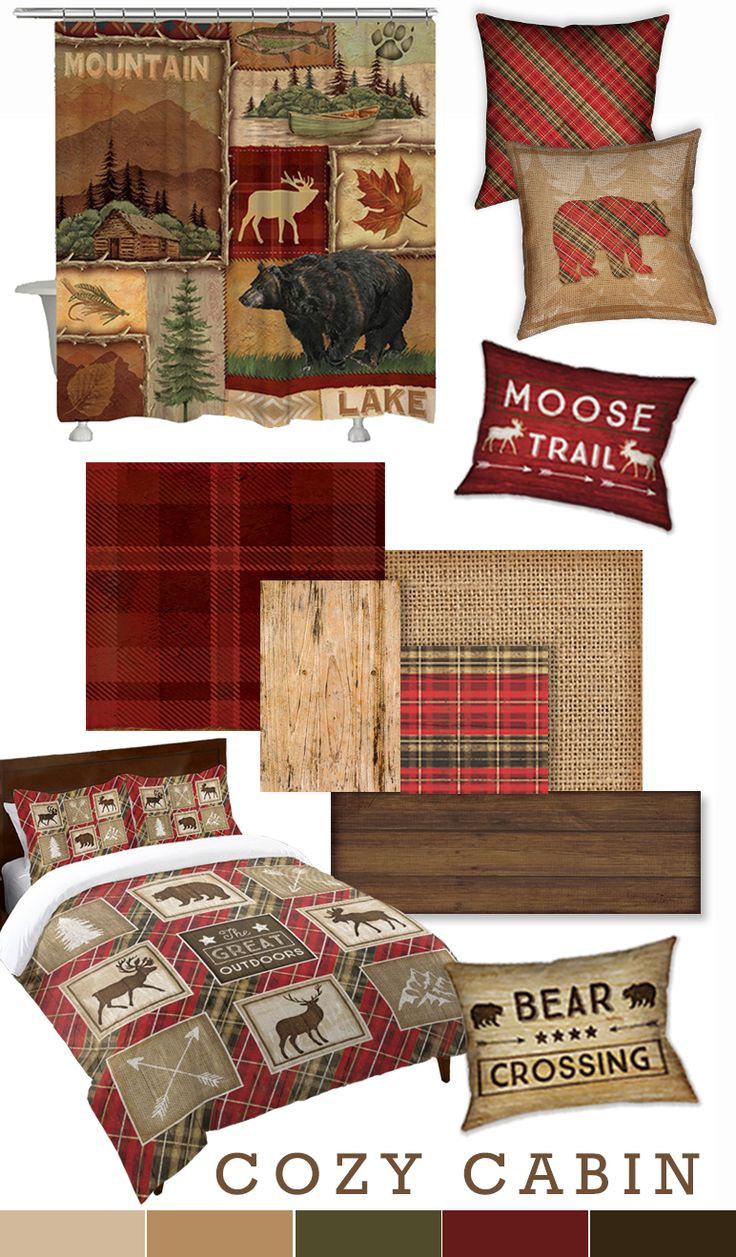 The crisp air means it's time to snuggle up! Bring warmth into your home with scenic artwork of the great outdoors, rich plaids and rustic textures like burlap and wood.
