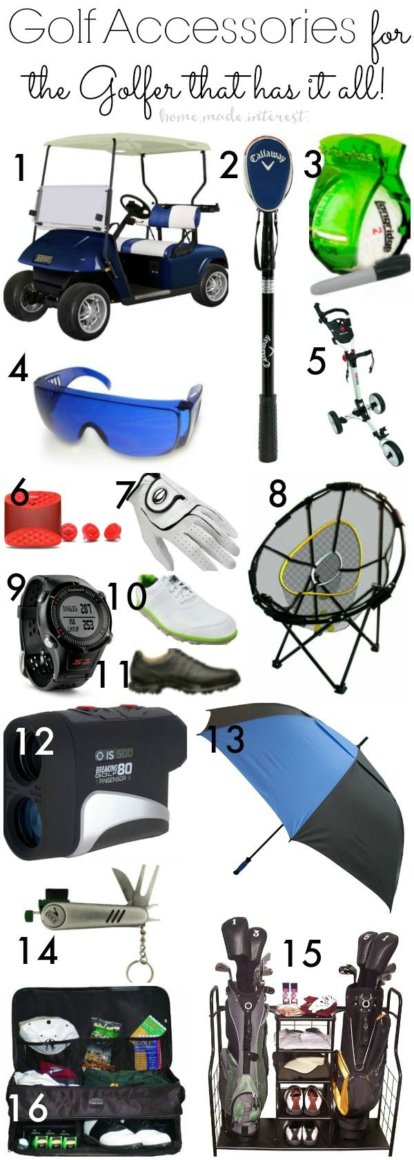 If you need Golf Accessories for the Golfer that has it all here's gift ideas for your boyfriend, dad, mom, men and women. Golf gifts for amateurs to professionals.