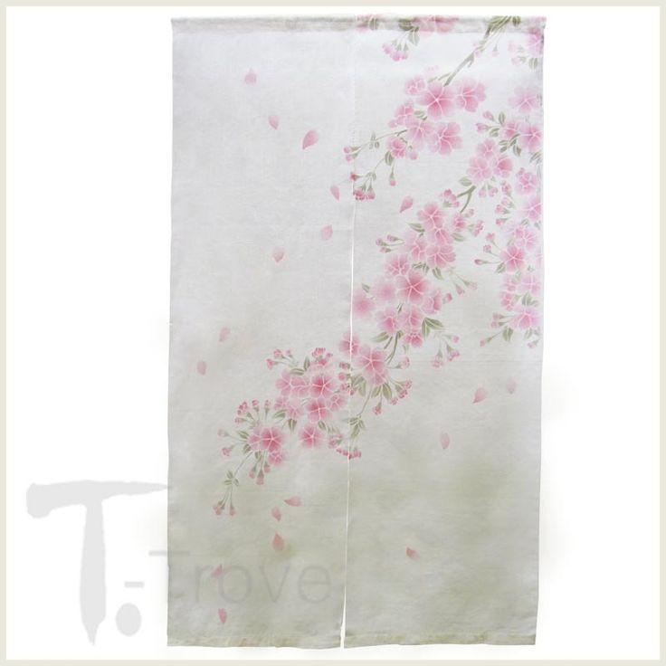 T-Trove Asian Decor - Cherry Blossom Linen Noren, $62.00 (http://www.t-trove.com/cherry-blossom-linen-noren-curtain/)
