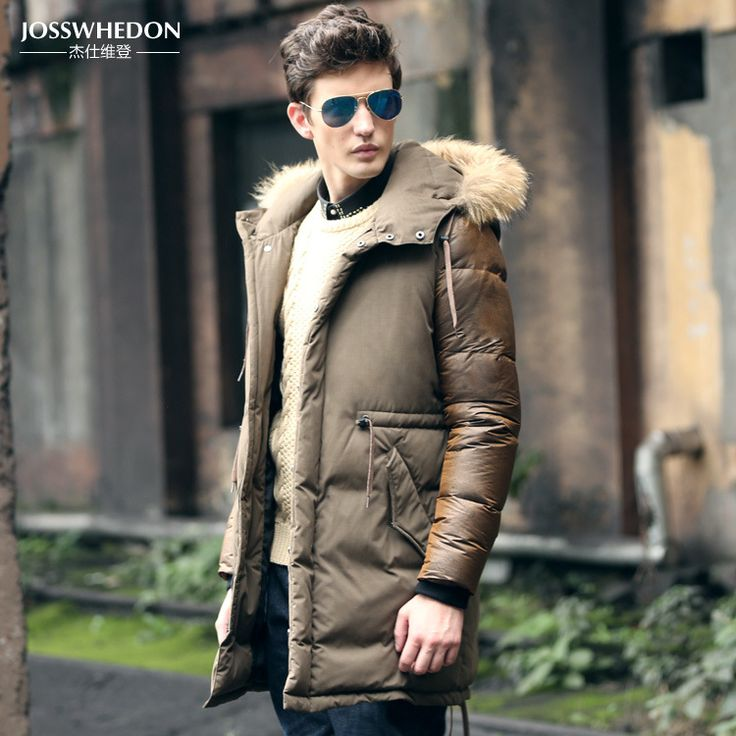 Cheap jacket male, Buy Quality jacket gangster directly from China jacket ears Suppliers: mens parka jackets fur hood down jacket men winter coat 2015 new design outdoor long plus thick warm quilted jacket red/