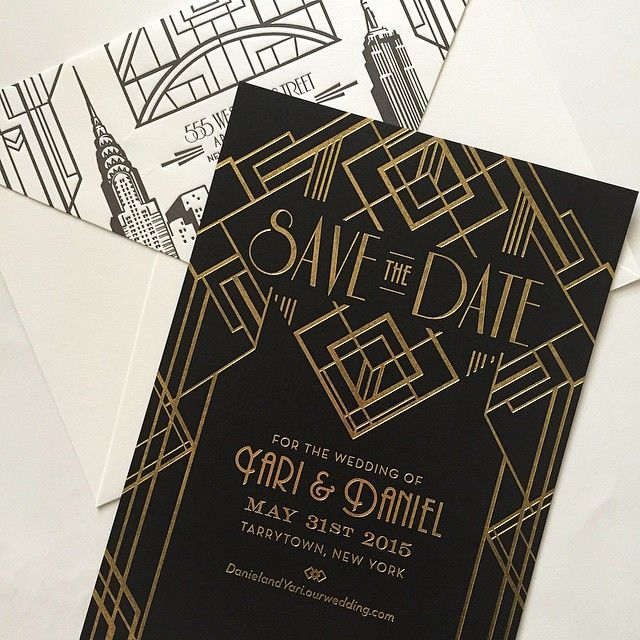 Great Gatsby Art Deco Save The Date Suite By Atelier Isabey