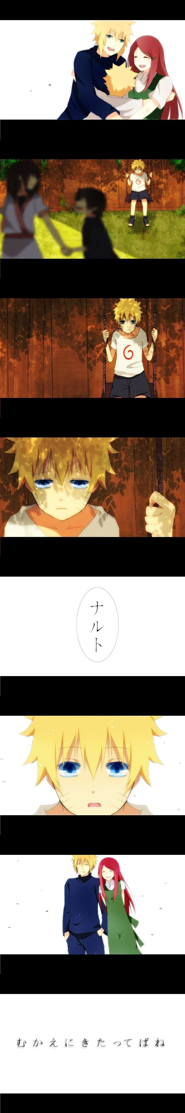 Naruto- touching... wish i could draw that whole scene...