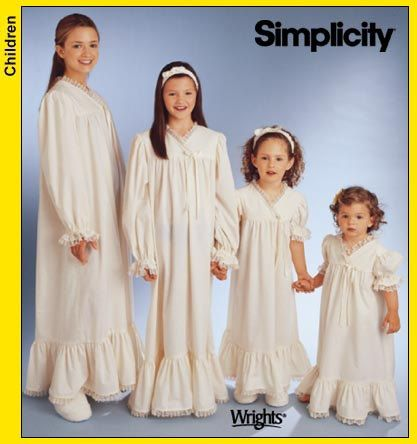 Old fashioned nightgown pattern 100