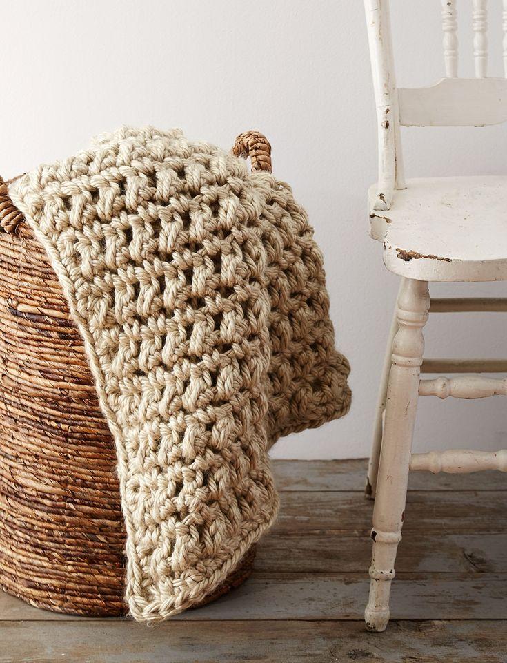 Yarnspirations Com Bernat Easy Going Crochet Blanket Yarnspirations Chunky Crochet Baby Blankets Pinterest Patterns Baby Blankets And