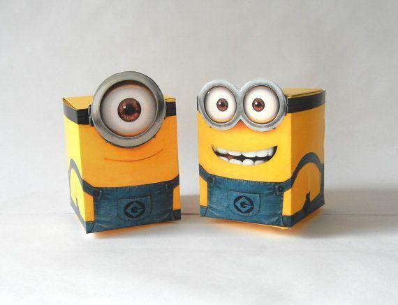 Foxtailprintables.com - Instant Download - Despicable Me Minion Treat Box Party Decoration Set Dispicable