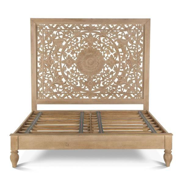Bali King Bed Hand Carved In 2020 King Platform Bed Carved Beds Wood Beds