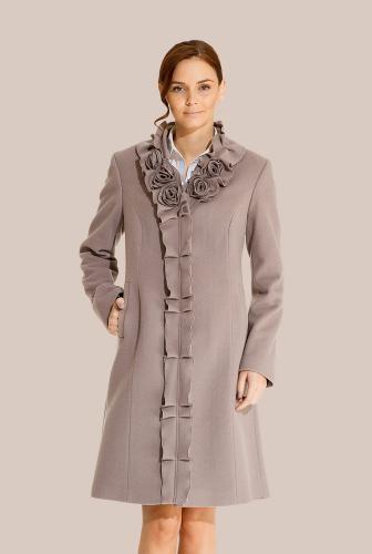 Palton lila din lana