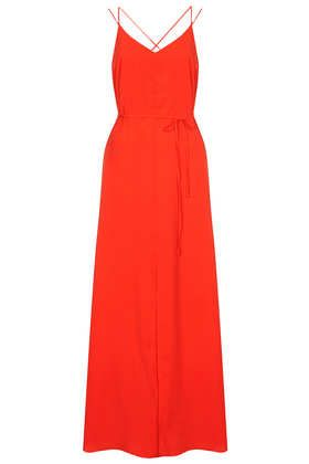 Strappy Cross Back Maxi Dress