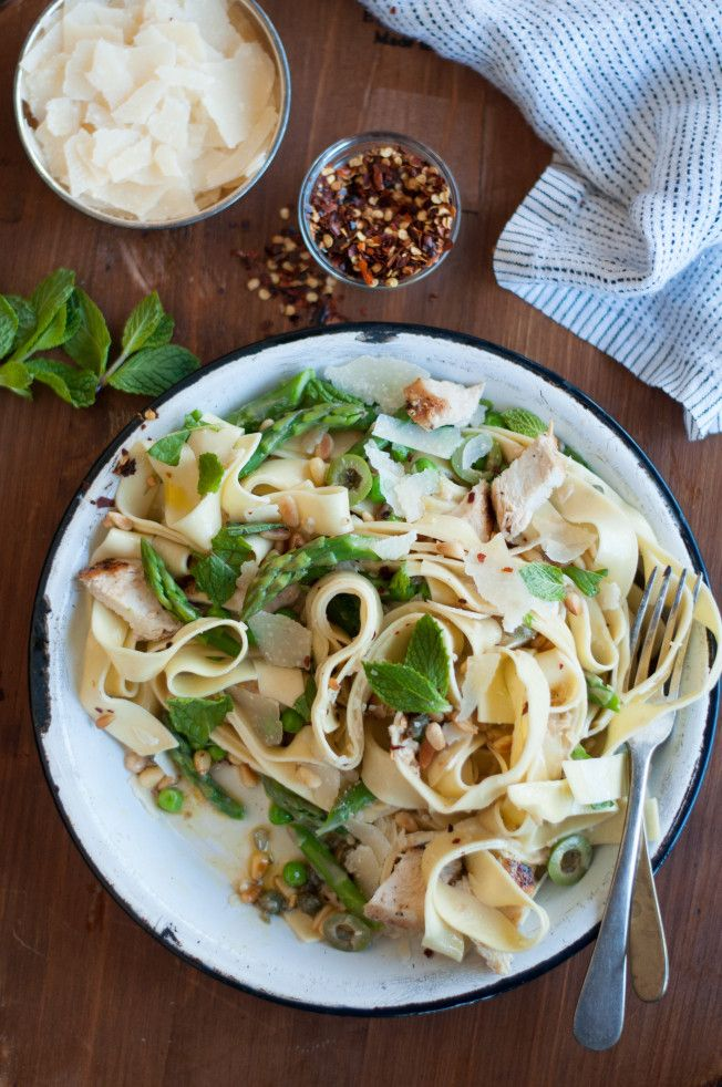 Pasta Primavera with Chicken from SF Cooking School