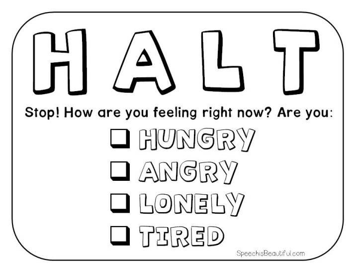 This HALT printable can be yours (become an email