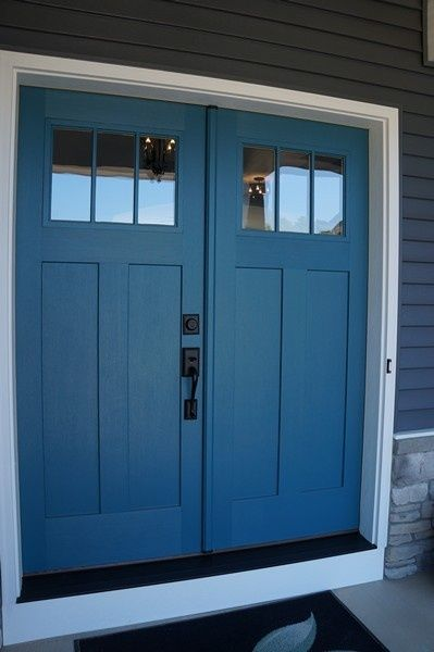 Double doors doors and front doors on pinterest for Exterior double doors with glass