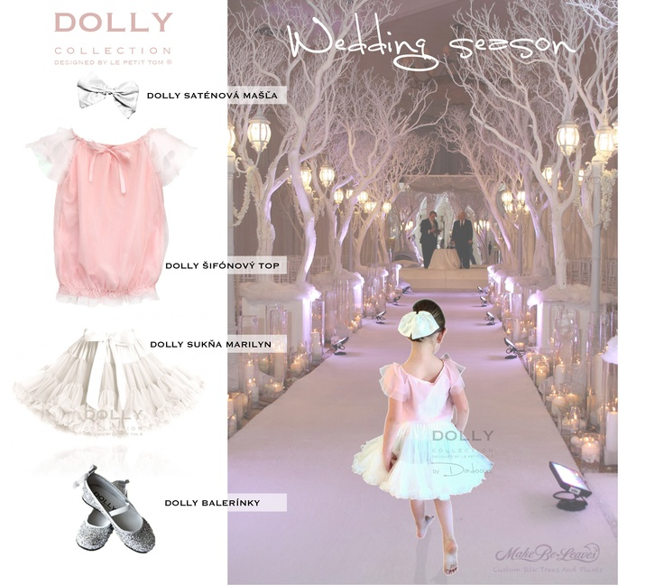 DOLLY wedding season :) Mix and match dolly skirt with top, ballerinas and big satin hair bow! Gorgeous!!!