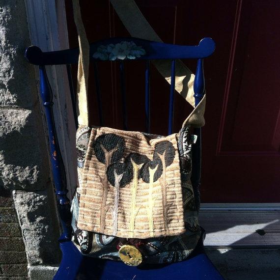 teal tree cross-body messenger bag  on Etsy, $78.00 CAD